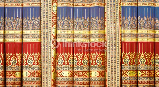 Thai Painting Curtain Stock Photo   Thinkstock