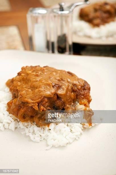 Thai nocciolina pollo con riso