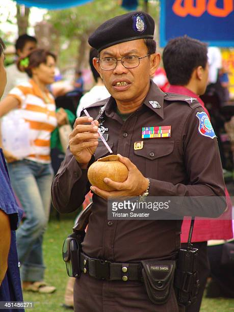 CONTENT] Thai Police chief sipping a drink at Phanom Rung festival The traditional Phanom Rung festival takes place every year at full moon in the...