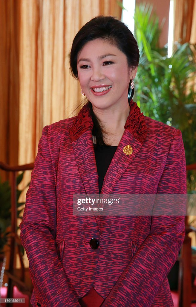Thai premier <a gi-track='captionPersonalityLinkClicked' href=/galleries/search?phrase=Yingluck+Shinawatra&family=editorial&specificpeople=787330 ng-click='$event.stopPropagation()'>Yingluck Shinawatra</a> visits the 10th China-ASEAN Business and Investment Summit at Nanning International Convention and Exhibition Center on September 3, 2013 in Nanning, Guangxi Zhuang Autonomous Region of China.