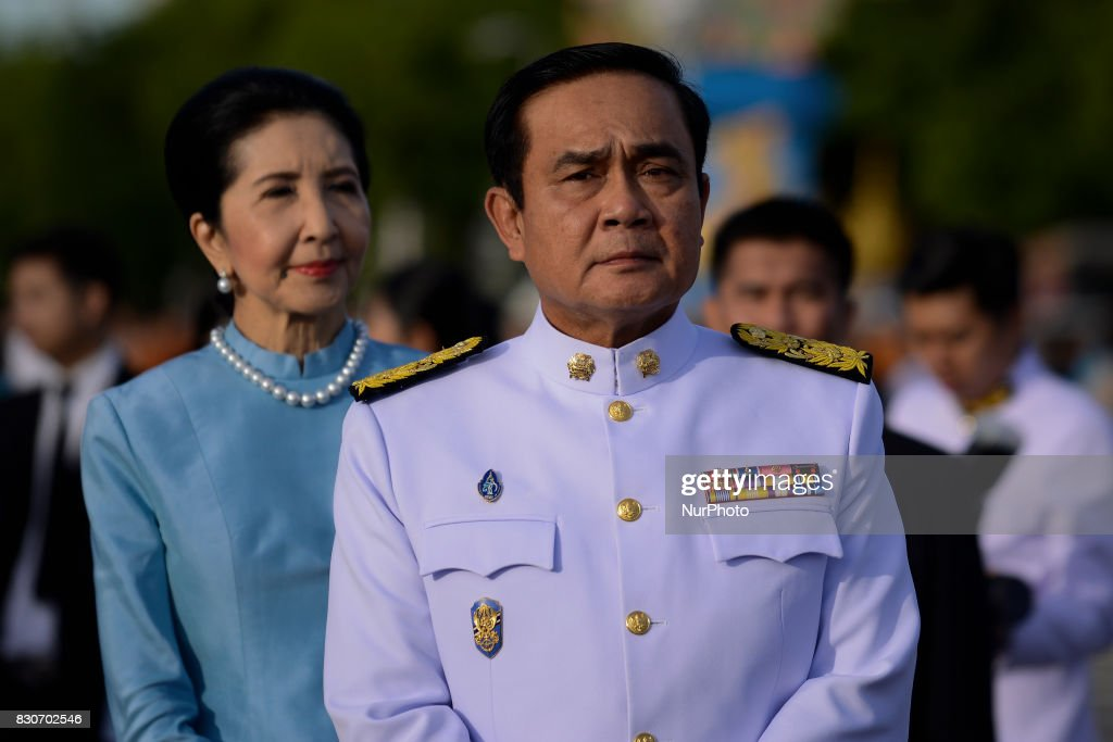 Thai Prime Minister Prayuth Chan-O-Cha during as part of celebrate the Queens Sirikit' 85th birthday in Bangkok, Thailand, 12 August 2017.
