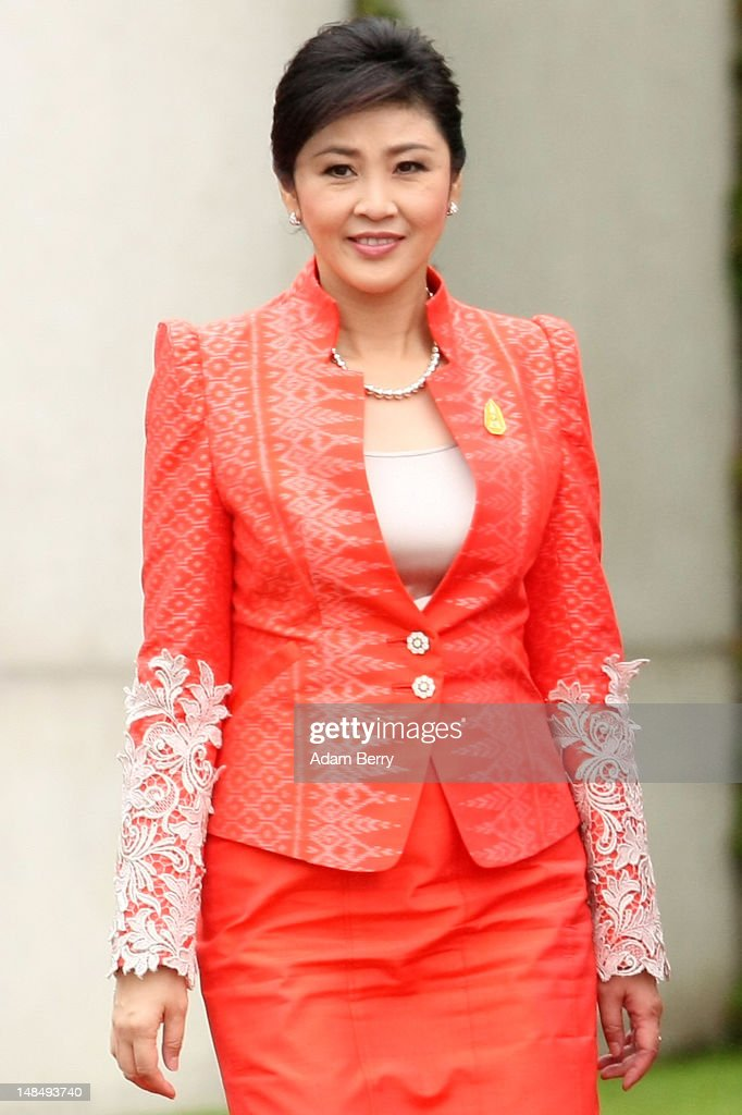 Thai Prime Minister Yingluck Shinawatra attends a military ceremony upon her arrival at the German federal chancellory on July 18, 2012 in Berlin, Germany. Yingluck, Thailand's first female prime minister, is on her first state visit outside of Asia since she took office in August of last year.