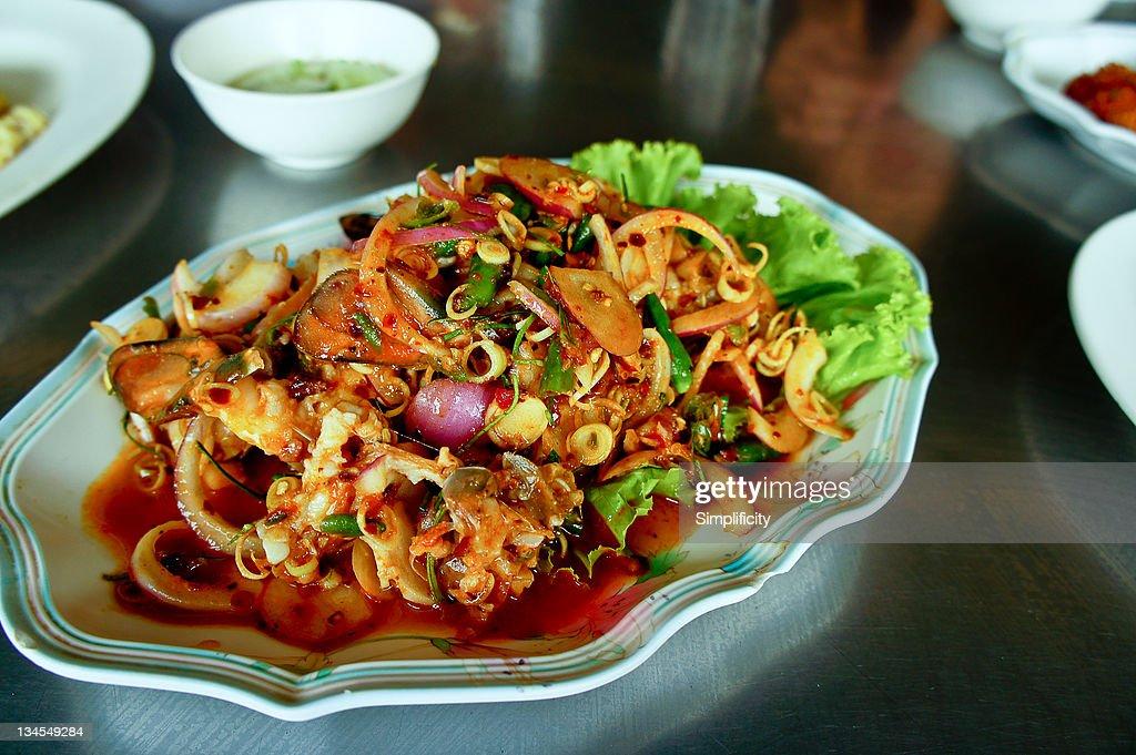 Thai salad prawn laab goong : Stock Photo