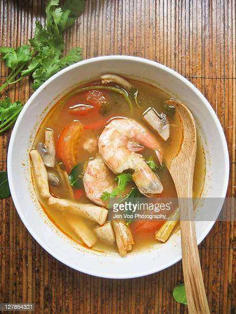 Thai seafood tom yum soup