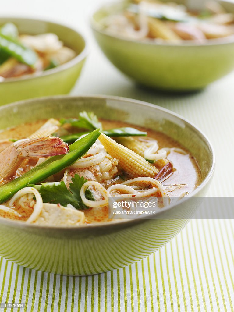 Thai Shrimp Soup : Stock Photo