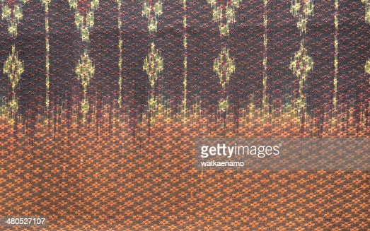 thai silk fabric pattern background : Stockfoto