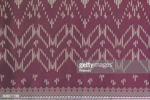 Thai silk fabric pattern : Stock Photo