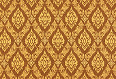 Thai silk traditional motif background.