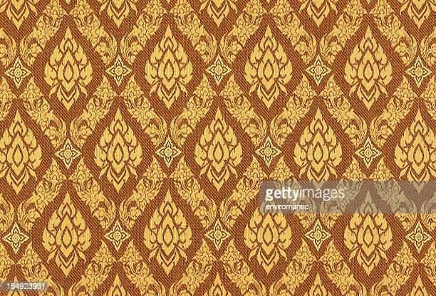 Thai silk traditional motif background.