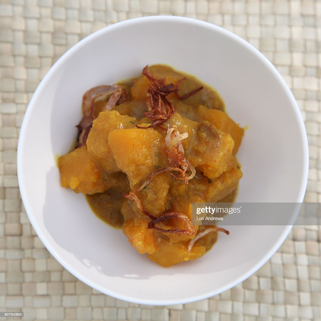Thai Spicy Coconut Squash Curry : Stock Photo