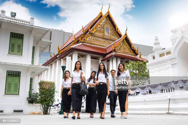 Thailand monument woman stock photos and pictures getty for Spa uniform bangkok