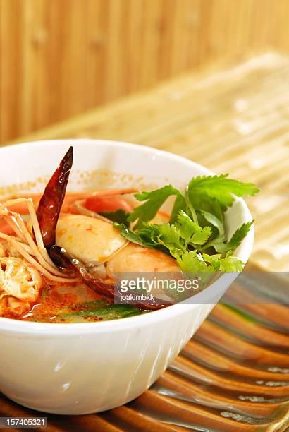 Thai Tom Yum seafood dish
