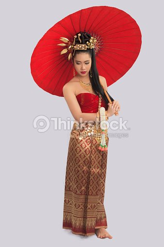 thail ndische frau in traditioneller kleidung von thailand stock foto thinkstock. Black Bedroom Furniture Sets. Home Design Ideas