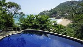 hillsde pool at koh samui with view to coral beach