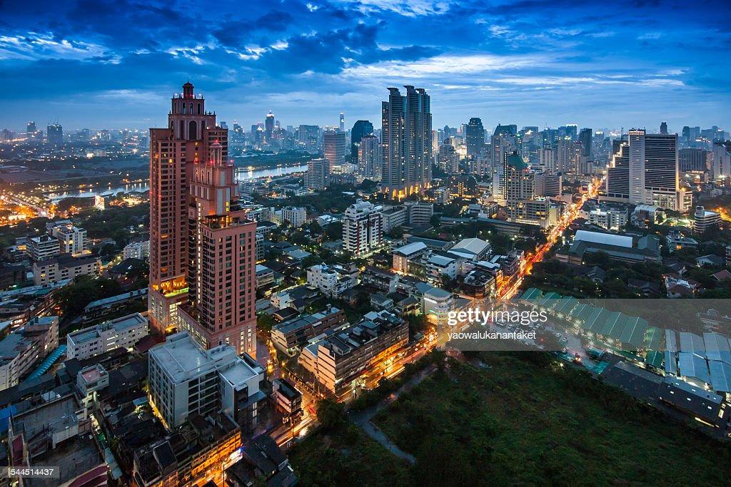 Thailand, Bangkok, City at night