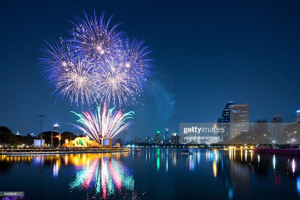 Thailand, Bangkok, Firework festival