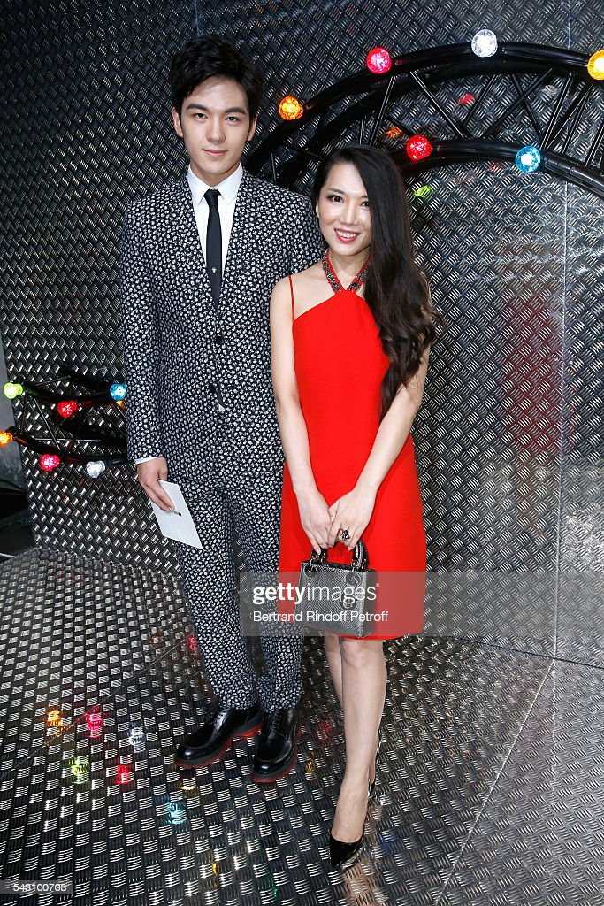 Thailand Celebrity Grit Jirakiertivadhana and Tao Tao attend the Dior Homme Menswear Spring/Summer 2017 show as part of Paris Fashion Week on June 25, 2016 in Paris, France.