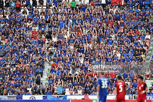 Thailand Chelsea FC fan during the international friendly match between Thailand AllStars and Chelsea FC at Rajamangala Stadium on May 30 2015 in...