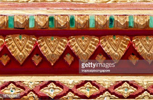 Thailand, Chiang Mai, Buddhist temple, decor. : Stock Photo