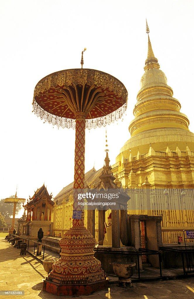 Thailand, Chiang Mai, Wat Phrathat Doi Suthep, Buddhist temple. : Stock Photo
