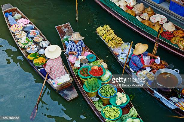 Thailand, Damnoen Saduak, flotting market