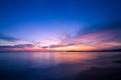 Amazing sunset form thailand beachThailand's favorite beach in summer.