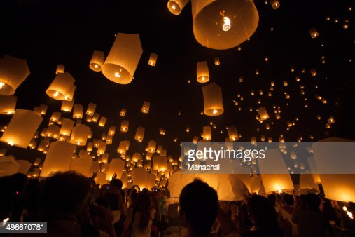 Thailand Floating lantern festival