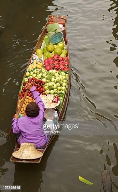 Marché en Thaïlande flottant