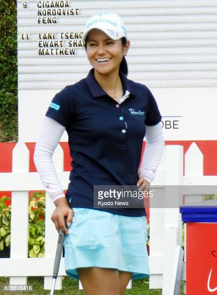 PATTAYA Thailand Japanese professional golfer Ai Miyazato smiles at the Siam Country Club in Thailand on Feb 19 before the Honda LPGA Thailand