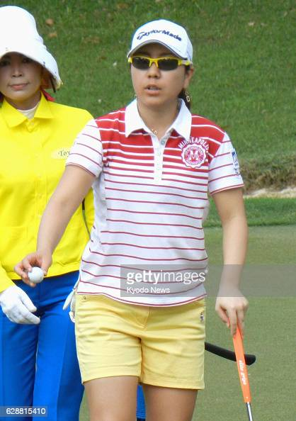 PATTAYA Thailand Japanese professional golfer Mika Miyazato plays in a oneday tournament for professional and amateur golfers at the Siam Country...
