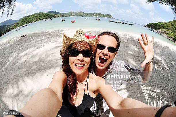 Thailand, Koh Phangan, Coupleat Thong Nai Pan beach