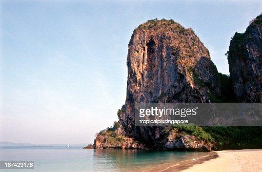 Thailand, Krabi Province, beach at Phra Nang. : Stock Photo