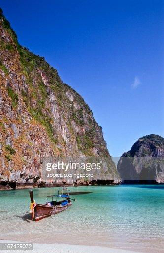 Tailandia, Krabi provincia, Ko PhiPhi Leh, Maya Bay. : Foto de stock