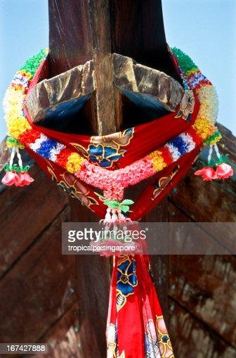 Provincia di Krabi, Thailandia, Ko PhiPhi, longtail boat. : Foto stock