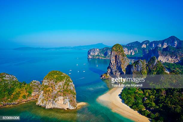 Thailand, Krabi province, Railay beach, Hat Tham Phra Nang beach