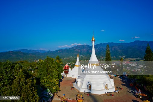 Thailand Mae Hong Son Wat Phra That Doi Kong Mu Stock ...