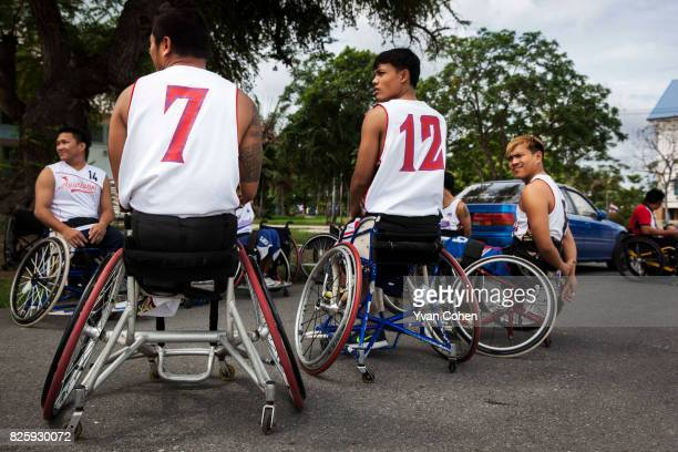 Thailand national wheelchair basketball team training at a government sports facility in Cholburi province about an hour and a half to the east of...