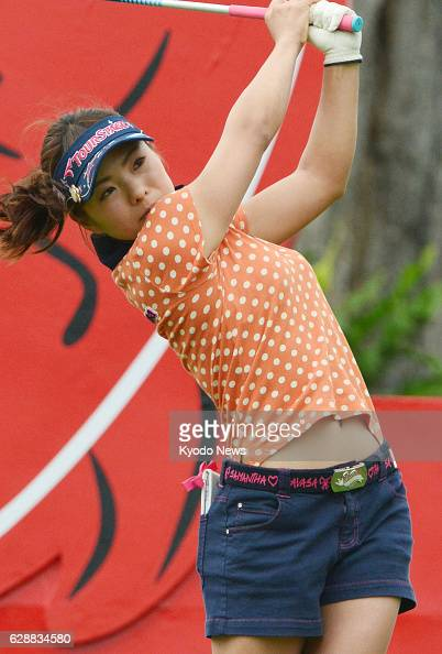 PATTAYA Thailand Natsuka Hori of Japan tees off on the No 1 hole at the Siam Country Club in Thailand during the first round of the Honda LPGA...