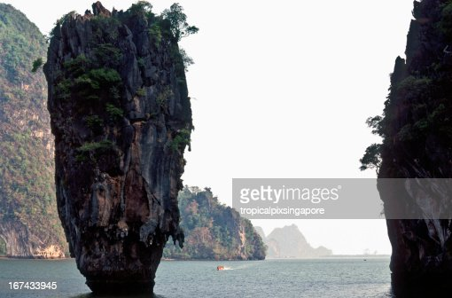 Thailand, Phang Nga Province, Ko Tapu, 'James Bond Island'. : Stock Photo