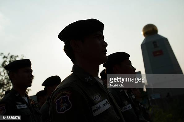 Thailand police personnel surrounded the Dhammakaya Temple in Pathum Thani province on the outskirts of Bangkok Thailand on February 20 2017 Thai...