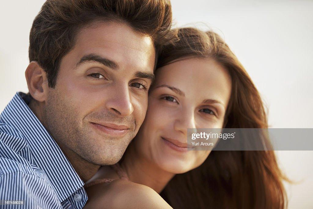 Thailand, Portrait of couple, cheek to cheek : Stock Photo