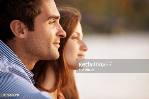 Thailand, Portrait of couple on beach : Stock Photo