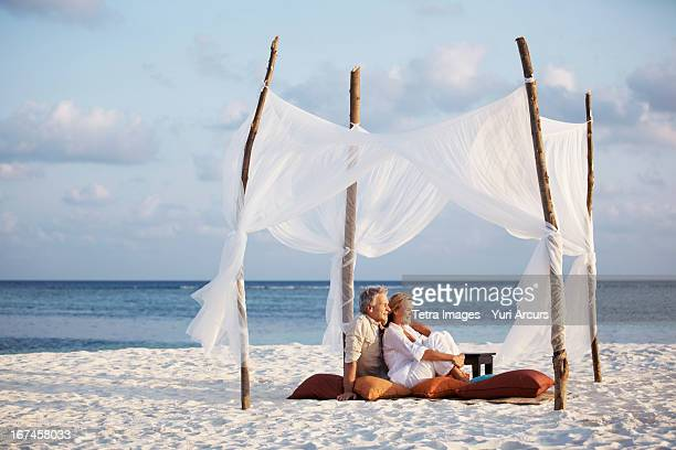 Thailand, Portrait of couple on beach
