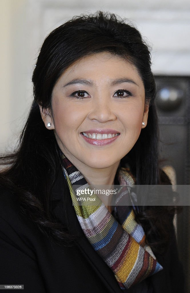 Thailand Prime Minister Yingluck Shinawatra attends a meeting with Prime Minister David Cameron (not pictured) inside N10 Downing Street on November 14, 2012 in London, England. The meeting is due to focus on trade relations, specifically increased cooperation on tourism, trade and investment.