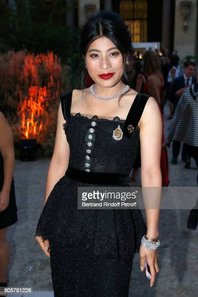 Thailand Princess Sirivannavari Nariratana attends the amfAR Paris Dinner 2017 at Le Petit Palais on July 2 2017 in Paris France