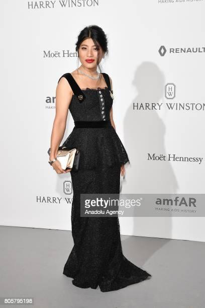 Thailand Princess Sirivannavari Nariratana attends the amfAR Paris Dinner 2017 at Le Petit Palais in Paris France on July 2 2017