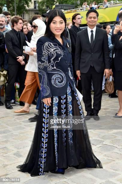 Thailand Princess Sirivannavari Nariratana is seen arriving at the 'Christian Dior' show during Paris Fashion Week Haute Couture Fall/Winter 20172018...