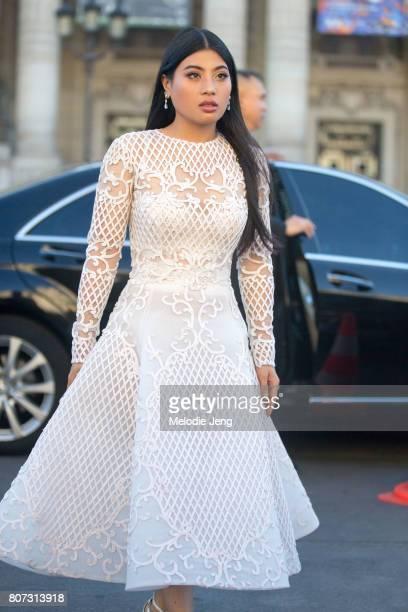 Thailand Princess Sirivannavari Nariratana outside the Giambattista Valli show on July 3 2017 in Paris France