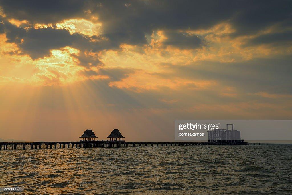 Thailand sea bridge : Stock Photo