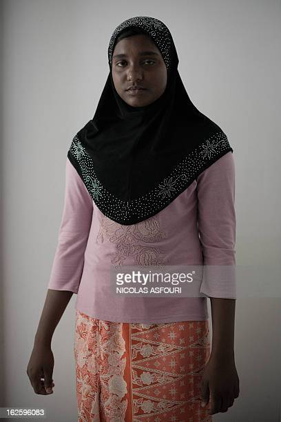 WITH 'ThailandMyanmarminoritiesreligionrefugeesFEATURE' by Daniel Rook This picture taken on February 13 2013 shows a Muslim Rohingha asylum seeker...
